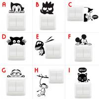 Jual Wall Sticker Saklar Lampu Rumah Puluhan Karakter Lucu Unik Stiker Murah