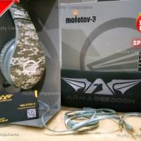 [ARMAGGEDDON] Headset Gaming MOLOTOV-3 [ARMY] STYLE. TOP Kualitasnya