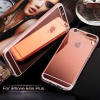 TPU Mirror Soft Back Casing Samsung A5 / A510 2016 Rose Gold Case Mu S