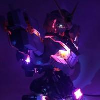 Gundam RX O Unicorn Head Bust 1/35 LED Full Psycho Frame Baru