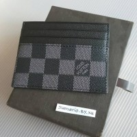 LV CARD WALLET BLACK DOMPET KARTU KULIT ASLI HOLDER LOUIS VUITTON