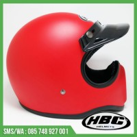 Helm Cakil Polos Red Light