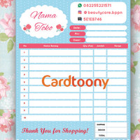 Nota / Kwitansi / Invoice Full Color Shabby Chic Pastel 1 ply