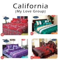 Sprei CALIFORNIA 180x200 motif King Size 180 verena, songket (My Love)