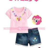 Setelan Anak GW 225I Pony Pinkypie set Jeans