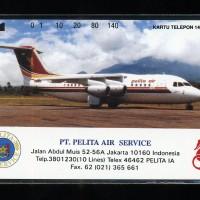 Kartu telepon magnetik telkom Pelita air service mint