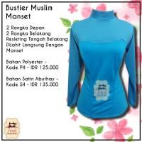 bustier muslim bahan polyester