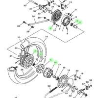 harga Paket Tromol Belakang Scorpio + Bearing Roda Belakang Asli Yamaha Tokopedia.com