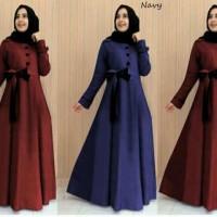 Maxi dress gamis hijab hazel Katun tanpa pashmina MURAH PROMO