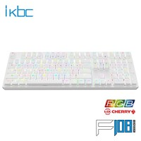 Jual Mechanical Keyboard IKBC F108 Fullsize RGB LED White ( Red Cherry MX ) Murah