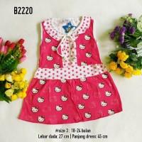 Baju Bayi Murah | Dress Anak Kutung Motif Hello Kitty Pink Merah Ungu