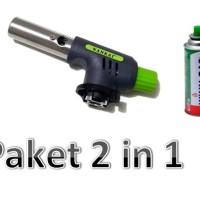 Paket 2 in 1 Gas torch NANKAI + Tabung gas kaleng Winn