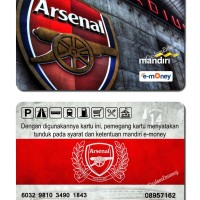 kartu emoney 50 rb mandiri etoll e-money e-toll arsenal fc football