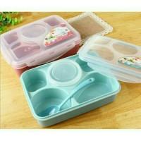 Jual Tempat Makan Sekat 5in1/Lunch Box 5in1/Kotak Makan/Microwave/YOOYEE Murah