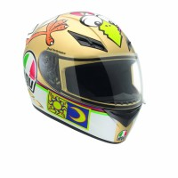 Helm AGV K3 Rossi Motif Chicken Fullface Gold