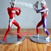 Mainan Anak edukatif Figure Ultraman Taro & Ultraman Tiga Set 2pcs