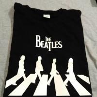 Jual baju pakaian kaos band the beatles logo abbey road Murah