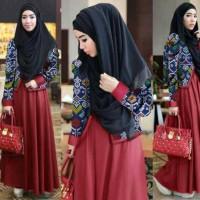 Hijab 3in1 Cardy Trendy Maron / Grosir Busana Muslim / Baju Muslim