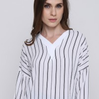 Vertical line crepes blouse