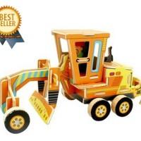 Puzzle Kayu Traktor Bajak Sawah 3D Wooden Puzzle Construction VE201