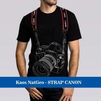 Jual Kaos Baju Distro Murah Natgeo Photographer fotographer STRAP CANON 3D Murah