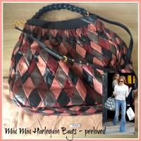 Jual Tas kulit wanita Miu Miu Harlequin Bag Preloved Second Seken w Dustbag Murah