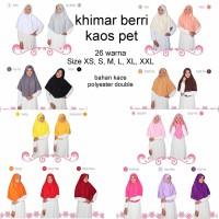 Khimar Kaos Berri Size M dan L - Jilbab Santai Adem Tidak Transparan