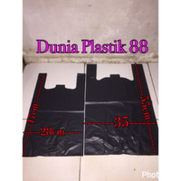hd28 hd35 @500gram / kantong plastik kresek hitam tebal kuat