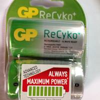 Rechargeable Batteries - GP - GP Type D (2 Pieces)