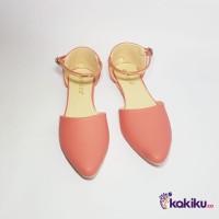 Sepatu Flat Shoes / Flatshoes Wanita Tali Vasco DM06 Salem / Termurah
