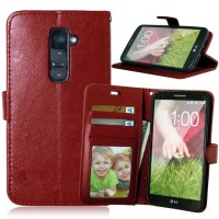 LG G2 Wallet flip Cover Card Case Leather Vintage retro pouch