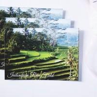 Terasering Sawah Indonesia Pemandangan Kartupos Postcard Surat Unik