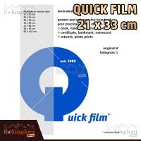 harga Quick Film Sampul Plastik Laminating Ukuran 21 x 33 cm / 21x33cm Tokopedia.com
