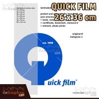 Quick Film Sampul Plastik Laminating Ukuran 26 x 36 cm / 26x36cm