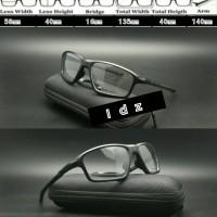 Frame Kacamata frame minus Oakley Crosslink Zero Hitam Doff lensa