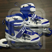 sepatu roda/ inline skate power superb + baut bajaj biru Harga Gros