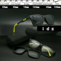 Frame Kacamata Baca Oakley Clip On X8004 Hitam Hijau