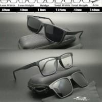 Frame Kacamata Oakley X8008 Clip On Black doff
