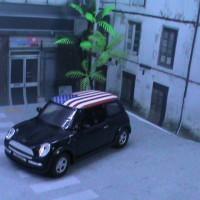 Welly Mini Cooper America Flag skala 1/38