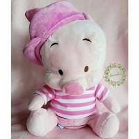 boneka plush doll import PIGLET PINK STRIPES