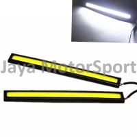 1 pcs Lampu LED DRL Mobil / Motor Plasma / COB 17 cm - White