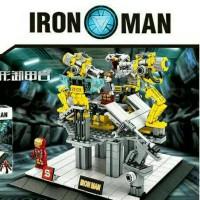 lego ironman lab stage kw 527pcs edukasi tony stark
