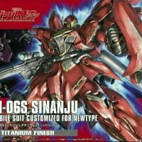 Bandai Gundam Universal Century MSN-06S Sinanju Titanium Finish