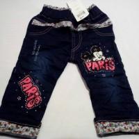 Celana Jeans Anak Perempuan Motif Paris 1-4t