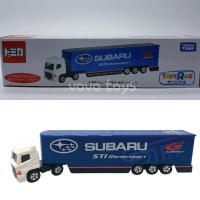 Tomica Long Toys R Us Subaru STI Motor Sport Racing Transporter