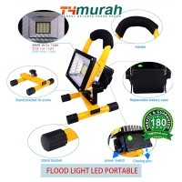 Lampu Flood Light Portable 30W IP65 24 LED Waterproof Spotlights Sorot
