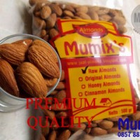 Raw almond / kacang almond mentah 500gr