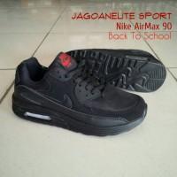 Sepatu Sekolah Hitam Polos Nike Air Max 90 Back To School Full Black.