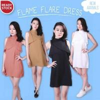 Harga flame flare dress turtleneck terusan baju pesta pakaian wanita | antitipu.com