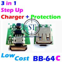 Kit 3-in-1 Power Bank 1.3A ( Step Up + Charging + Protection ) BB-64C